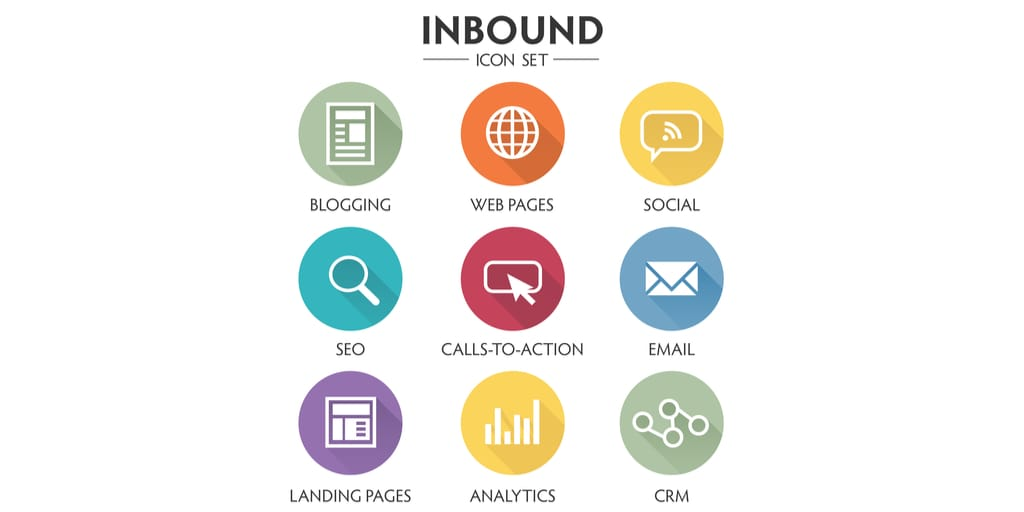 Inbound methodology icon set