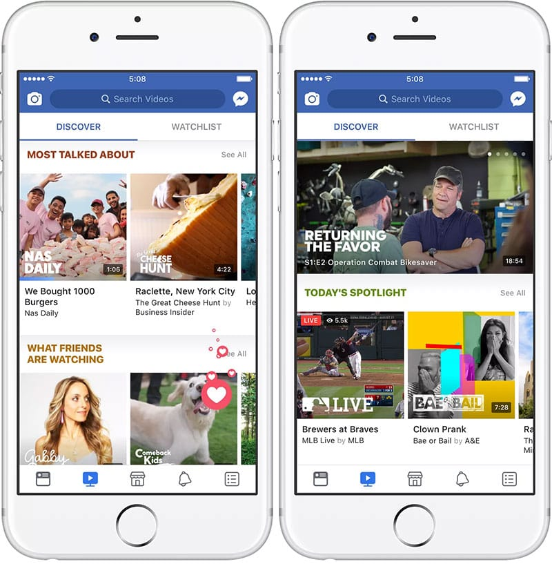 facebook watch social video