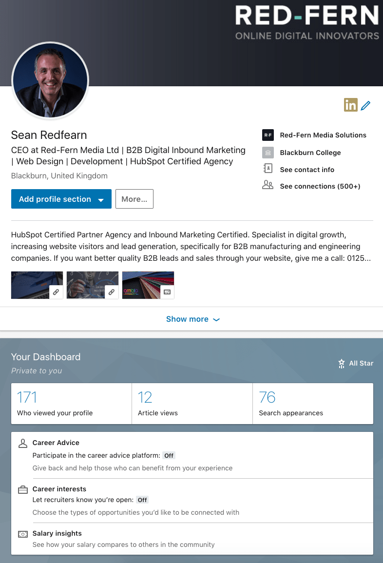 linkedin profile sean