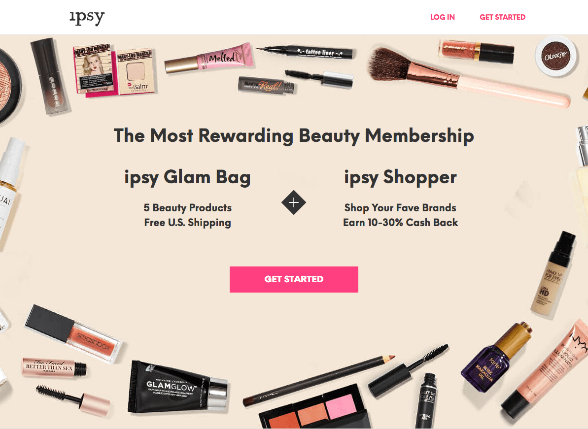 ipsy homepage subscription