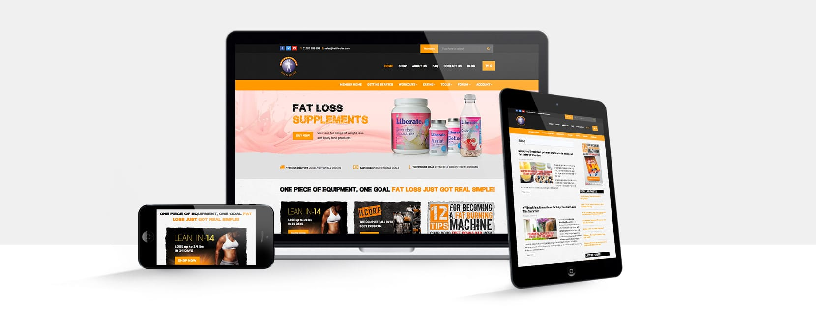 Kettlercise Responsive Website